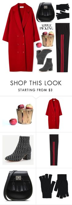 """Wool cashmere coat"" by thestyleartisan ❤ liked on Polyvore featuring Alexander McQueen, Dr. Martens, George and applepicking"
