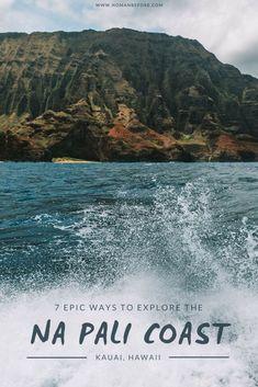 7 Epic Ways to Explore Kauai's Na Pali Coast – by Sea, A…, America destinations - Travel Destinations Hawaii Vacation, Hawaii Travel, Vacation Spots, Travel Usa, Travel Tips, Travel Photos, Travel Articles, Hawaii Hawaii, Vacation Travel