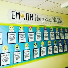 10 ways you can use Emojis in the Classroom. Keep students engaged with with tons of tips & ideas for using Emojis on iPads, computers, and more! 5th Grade Classroom, Classroom Door, Classroom Design, Classroom Displays, School Classroom, Classroom Themes, Classroom Organization, Back To School Bulletin Boards, Classroom Bulletin Boards