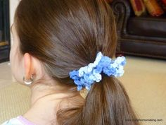 Crochet Hair Scrunchie Video : ... crochet scrunchie on Pinterest Scrunchies, Easy crochet and