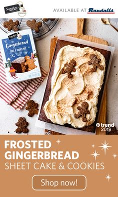 Simplify holiday baking with our Signature SELECT® Seasons gingerbread cake & c. Thanksgiving Cakes, Thanksgiving Appetizers, Holiday Appetizers, Holiday Cakes, Hot Appetizers, Appetizer Ideas, Holiday Foods, Peach Syrup, Zucchini Cake