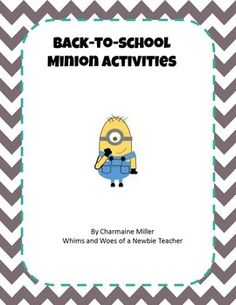It is the first week of school, and your students want a fun break from all the procedure-learning! Use these cute minion worksheets to practice beginning levels of math and reading. Reading skills included: sight words, poetry reading. Writing skills included: completing sentences.