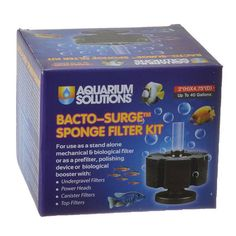 Small Aquarium Solutions Bacto Surge Sponge Filter Kit is a premium quality sponge filter that supports biological aquarium filtration.Helps break down organic waste. Extra dense foam supports longer life. Maximizes uplift for higher water flow.