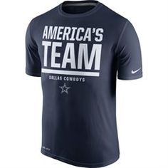 Nike Dallas Cowboys Navy Blue Local Legend Verbiage Performance T-Shirt
