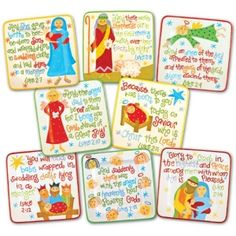 How cute are these?  The story of Jesus on a set of plates.  Love it.  Not just Santa!