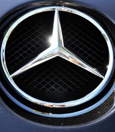 Mercedes Logo Shimmers In The Sun! Hit the image to check out the sensational SLR range...  #spon