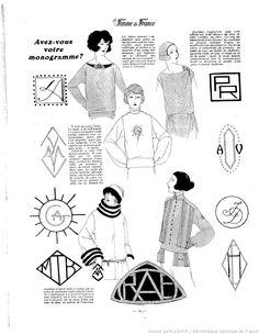 Les Modes de la femme de France 1922/11/05 Monograms