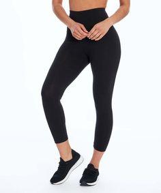 86fd5e378f77e Black High-Waist Tummy Control Leggings - Women | Zulily Tummy Control  Leggings, Women's