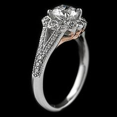 number 1 Pettygrove - Two Tone Engagement Ring