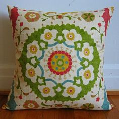 Iviemade pillow (love the colors and design)