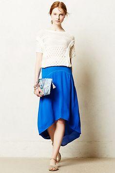 {Pendulum Midi Skirt in cobalt blue - anthropologie}