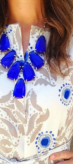 ~Cobalt Blue Statement Necklace | The House of Beccaria