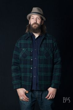 Sugar Cane CPO Wool Jacket, Flannel Shirt and SC42009N Jeans at Burg und Schild