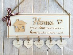 Personalised Home Family Plaque Sign Mothers Day Gift Birthday Gift for Her | eBay
