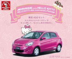 "hello-kitty: "" Mitsubishi Mirage ""HELLO KITTY 40th Anniversary Package"" """