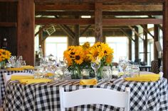 "Riverside Farm Vermont: Sarah's Autumn Wedding - ""Sunflowers"" in the Red Barn ""Welcome Party"" - 10-10-10"