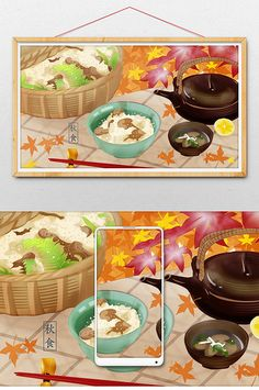 Yellow autumn food health fresh and beautiful illustration Cartoon Sea Animals, Cartoon Fish, Autumn Illustration, Moon Illustration, Food Template, Templates, Rabbit Vector, Rainbow Background