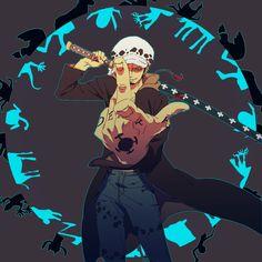Trafalgar Law - One Piece One Piece Anime, Nami One Piece, One Piece Fanart, Anime One, Anime Guys, Anime Stuff, Loi Trafalgar, Trafalgar D Water Law, One Piece Images