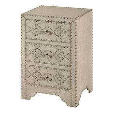 Found it at Wayfair - Craig 3 Drawer Nightstand http://www.wayfair.com/daily-sales/p/The-Glam-House-Tour-Craig-3-Drawer-Nightstand~SYL1466~E20471.html?refid=SBP.rBAZEVVnZbRsdy_SK6xpAnkY90zpLUkXi0kfq6whDjU