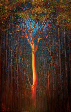 ein-bleistift-und-radiergummi:  Brent Lynch ''Burning Arbutus'