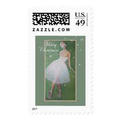 Merry Christmas-Beautiful Dancer Postage - merry christmas diy xmas present gift idea family holidays