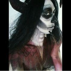 Demon makeup #horror #halloween