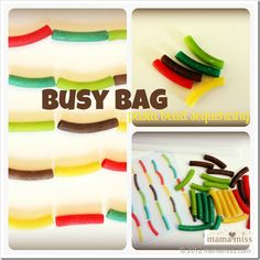 busy bag: Pasta Bead Sequencing   Free Printable