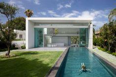 101 Bilder von Pool im Garten - pool garden schwimmbecken ideen weiß fassade