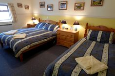 Glenlivet Cottage - one of 3 bedrooms with double and single beds
