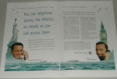 1956 Bell Telephone 2-page ad, New Atlantic cable