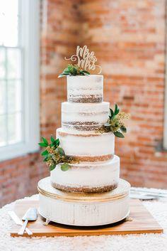Four tier naked wedding cake Naked Wedding Cake, Wedding Cake Fresh Flowers, Wedding Cake Prices, Wedding Cake Photos, Floral Wedding Cakes, Fall Wedding Cakes, Glamorous Wedding, Elegant Wedding, Rustic Wedding