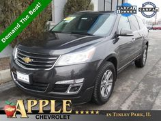 2016 Chevrolet Traverse LT 1 LT - Certified - Stk # 61206 - $24,994 - http://www.applechevy.com/VehicleDetails/certified-2016-Chevrolet-Traverse-FWD_1LT-Tinley_Park-IL/2923082803