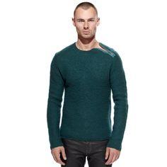 Merino Wool Zip Sweater Jade by Déjenos Jugar Calle