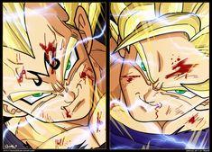 Majin Vegeta VS Goku SJJ2 by goku003 on DeviantArt - Visit now for 3D Dragon Ball Z shirts now on sale!