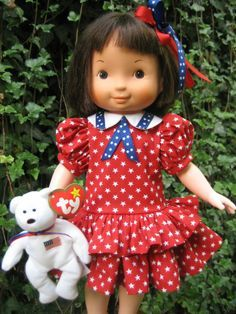 July 4th Stars outfit for your Fisher Price My Friend Mandy/Jenny/Becky dolls
