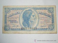 billete republica española 50 centimos 1937 serie bc