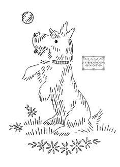Vintage Embroidery Transfer Patterns – Scottie Dogs