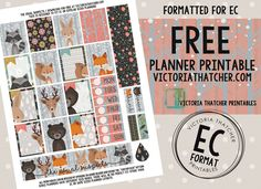 FREE Printable The Usual Suspects Planner Stickers from Victoria Thatcher