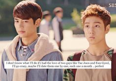 K-Drama Confessions ❤ I would not be able to pick out of these two if the world depended on it. No joke.
