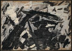 Artwork page for 'Painting on Cardboard', Gustav Metzger, David Bomberg, Natural Ecosystem, Tate Gallery, Abstract Words, Galleries In London, Grey Paint, Muted Colors, Traditional Art, All Art