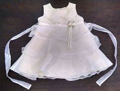 La Princess Baby Dress 18M Yellow Satin Sheer Overlay Tiered Floral Embroidery #LaPrincess #EasterDressyHolidayWedding