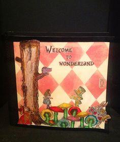 Alice in Wonderland Scrapbook mini album//Craft Room Secrets