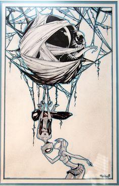 Venom Spiderman and Mary Jane, in Tony Nguyen's Skottie Young Comic Art Gallery Room Comic Book Artists, Comic Book Characters, Comic Artist, Comic Character, Comic Books Art, Character Sketches, All Spiderman, Amazing Spiderman, Venom Spiderman