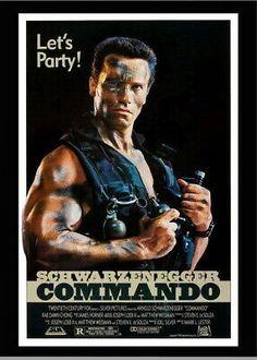 146507 Commando Schwarzenegger Movie Decor Wall Print Poster CA Classic Movie Posters, Original Movie Posters, Movie Poster Art, Classic Movies, Film Posters, Iconic Movies, Hero Movie, I Movie, Movie Props