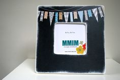 Chalkboard Bunting  Picture Frame by Mmim on Etsy, $17.00