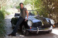 Patrick Dempsey with his 1963 Porsche 356
