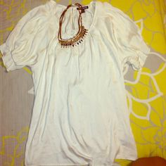 Express Dress Blouse Express top in great condition. 100% polyester material with pleaded sleeves. Express Tops Blouses