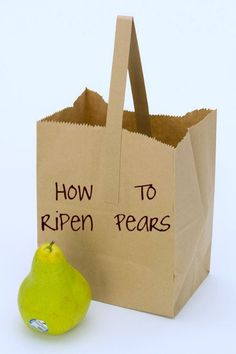 How to ripen pears can be tricky. When are pears ripe determines when they are ready to eat. Learn two methods for how to ripen a pear and what to look for when ripening pears. Pear Fruit, Ripe Fruit, How To Ripen Pears, Fruit Facts, Canned Pears, Fruit Nutrition, Red Pear, Pear Trees, Canning Recipes