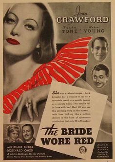 The Bride Wore Red - Joan Crawford - Franchot Tone - Robert Young - 1937