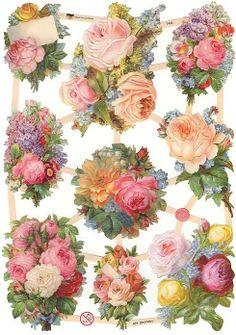 Germany Scraps — Pastel Rose Bouquet, 2014 (489x696)
